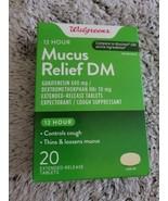 2 Walgreens 12 Hour Maximum Strength Mucus Relief DM 40 Tablets Exp 04/22 - $14.85