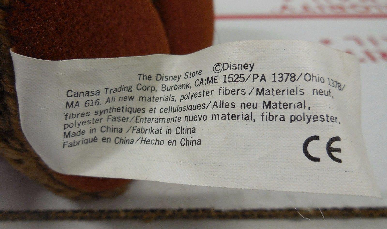 """Disney Store Exclusive Snow White Happy Dwarf 6"""" plush toy RARE HTF"""