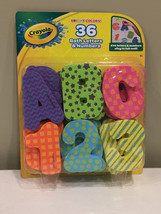Crayola Bath Letters and Numbers 36 Piece Foam Bright Colors Educational... - $14.65