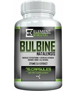 Element Nutrace Bulbine Natalensis 375mg 75ct 100% Natural Testosterone ... - $27.71