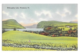 Willoughby Lake Westmore VT Vintage Tichnor Vermont Linen Postcard   - $4.99