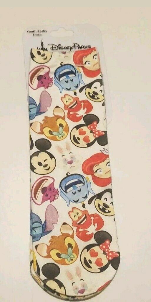 Disney Parks Youth Novelty Socks size Small Emojis image 2