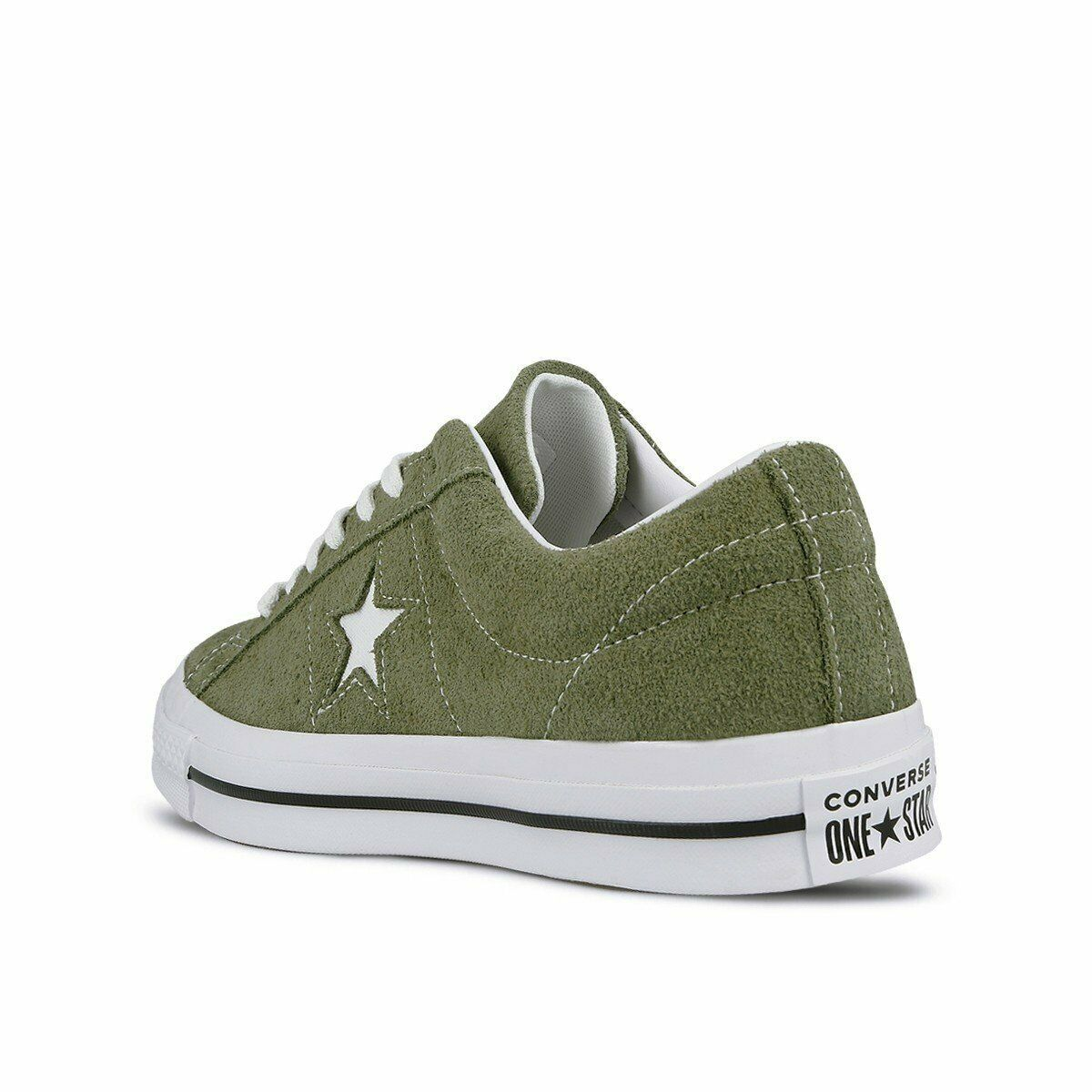 Converse Mens One Star Ox Suede 161576C Field Surplus (Olive) / White Size 9 image 4