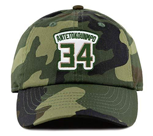 Giannis Antetokounmpo Hat - Milwaukee Basketball #34 Adjustable Strapback Dad Ca