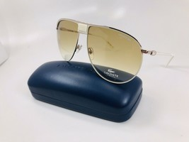 New LACOSTE L199S 105 White Aviator Sunglasses 65mm with Case - $89.05