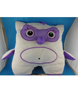 """Inkoos White & Purple Owl Plush 10"""" Draw on with Washable Markers Not In... - $9.94"""