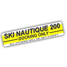 Ski Nautique 200 Docking Others Set Adrift Only 4x18 in Aluminum Street ... - $17.77