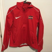 Nike Pro Elite Storm Jacket Kenya Mens Size L Oregon Track and Field RED... - $186.05