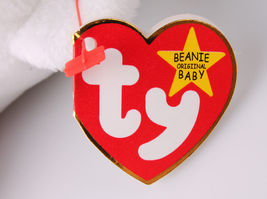 RARE TY MISPELLED VALENTINO & VALENTINA MINT CONDITION SWING TAG BEANIE BABY SET image 4