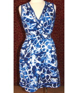 SIMPLY VERA VERA WANG blue sleeveless midi dress M (T48-02G8G) - $14.83