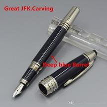 Great John F Kennedy Dark blue black wine red Resin and metal pen JFK cl... - $32.99