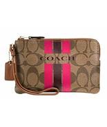 NEW! Authentic! COACH Varsity Corner Zip Small Wristlet  - $79.08