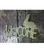 Cast Iron Antique Style Pelican WELCOME Plaque Nautical Sign Wall Decor ... - $13.85
