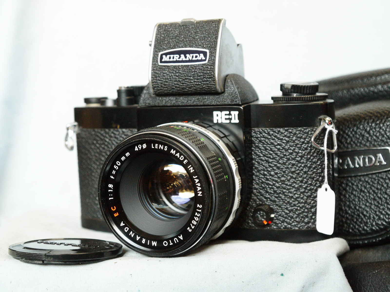 Primary image for Miranda RE-II BLACK 35mm SLR Camera c/w 50mm 1.8 Lens Cased+WLF- Collectors Item