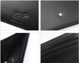 MontBlanc Men's Meisterstuck Black Leather Wallet 6cc #14548 image 5
