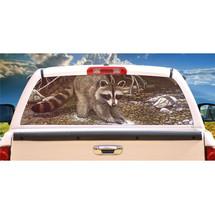 Raccoon The Prospector Rear Window Mural, Decal, or Tint for rear window in Truc - $79.99