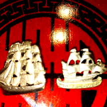 Awesome vintage silver ships~925? - $24.75