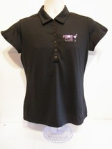 Nike Golf  Dri Fit Tech Mini-Stripe Polo Shirt Size XSmall Black Women's - $39.55