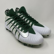 Nike Alpha Menace Elite TD Football Cleats Green White AJ6547-303 Men's Size 16 - $59.35