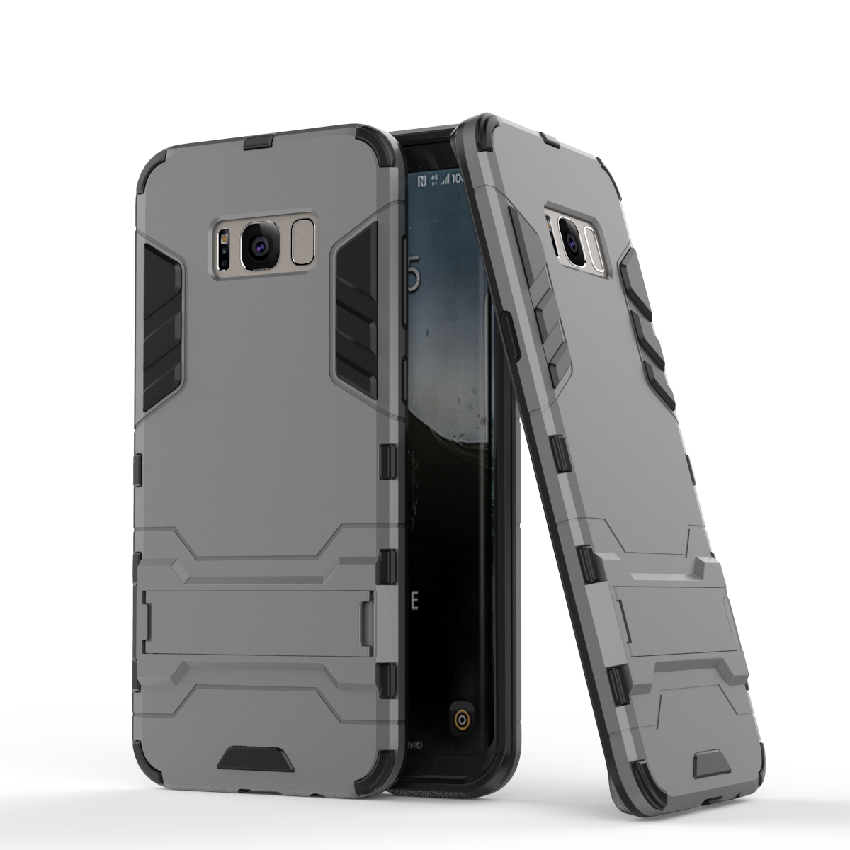 Rmor defender protective case cover with kickstand for samsung galaxy s8 gray p20170327162238859