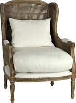 Arm Chair DOVETAIL HELENA Antiqued Birch Hardwood Frame And - $2,429.00