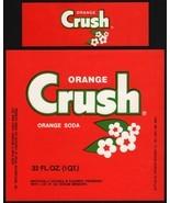 Vintage soda pop bottle label ORANGE CRUSH 32oz unused new old stock n-m... - $7.19