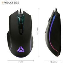 Apix GM002 USB Wired Gaming Mouse 5000DPI PMW3325 Sensor image 4