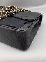 NEW AUTHENTIC CHANEL BLACK CAVIAR QUILTED JUMBO DOUBLE FLAP BAG GHW image 4