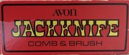Vintage Avon Black Jackknife Jack Knife Comb Brush In Original Box - $16.35