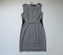 NWT Elie Tahari Estelle Pumice Gray Colorblock Stretch Wool Dress 8 $368 - $52.00
