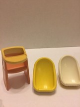 Little Tikes Highchair Carrier Car Seats Lot Of 3 Yellow White  - $14.95