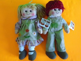 """Cutest Pair of Raggedy Ann and Andy Dolls 13.75"""" NEW SHIP FAST WITH TRAC... - $19.99"""