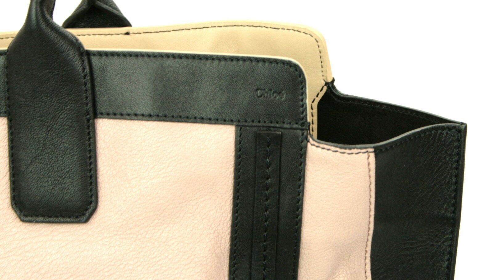 Chloe Alison Tote Bag Leather Tea Petal and Black Medium Handbag RRP £880  image 8