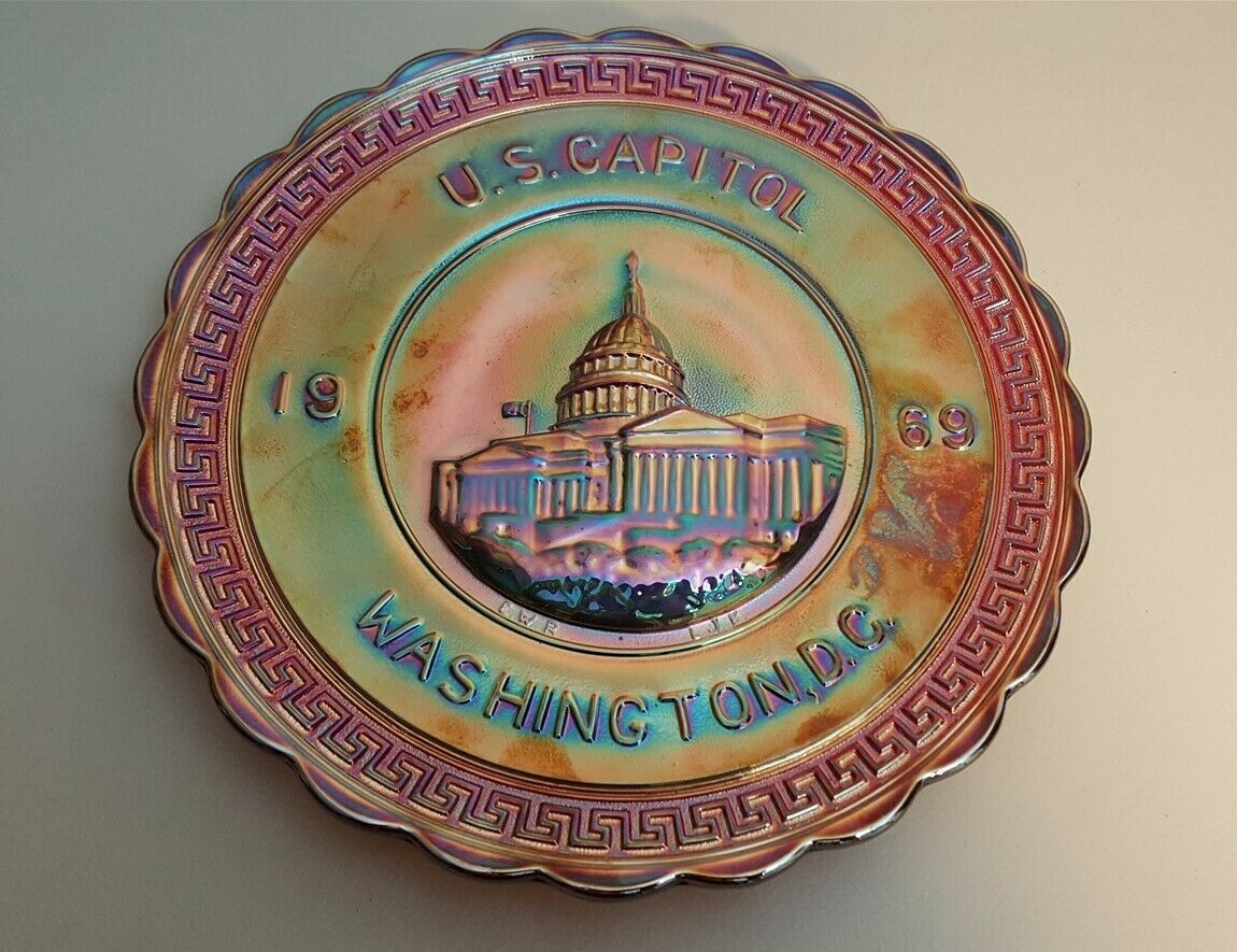 Imperial IG Red Carnival 1969 AMERICA THE BEAUTIFUL Plate 1st Series US Capitol