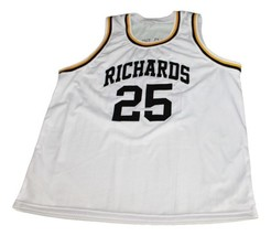 Dwyane Wade #25 Richards High School Basketball Jersey New Sewn White Any Size image 1