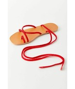 NEW Urban Outfitters UO Jess Rope Wrap Sandals in Red sz 6 - $23.76