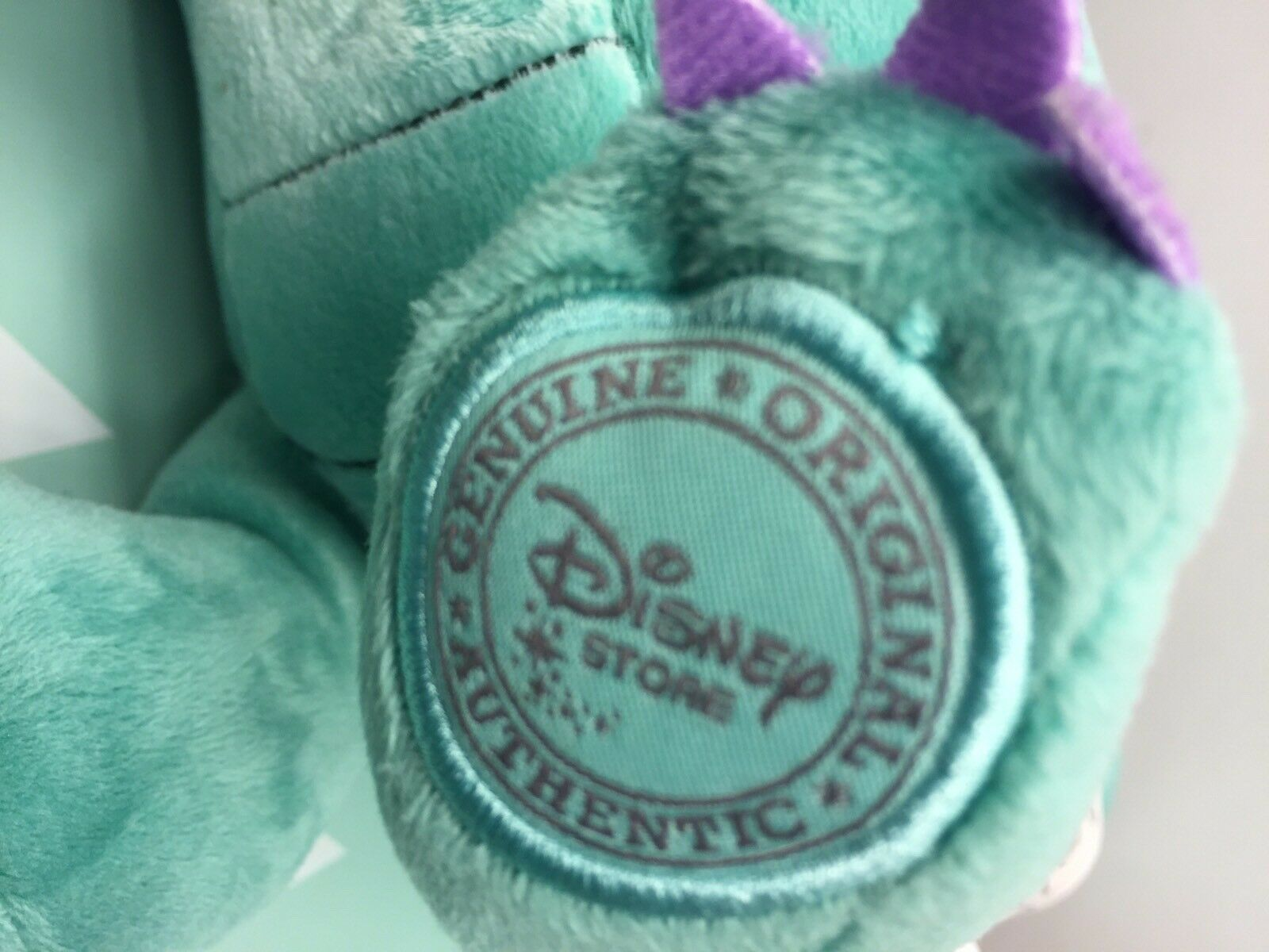 Disney Store Plush Crackle the Dragon from Sophia the First Teal Stuffed Animal