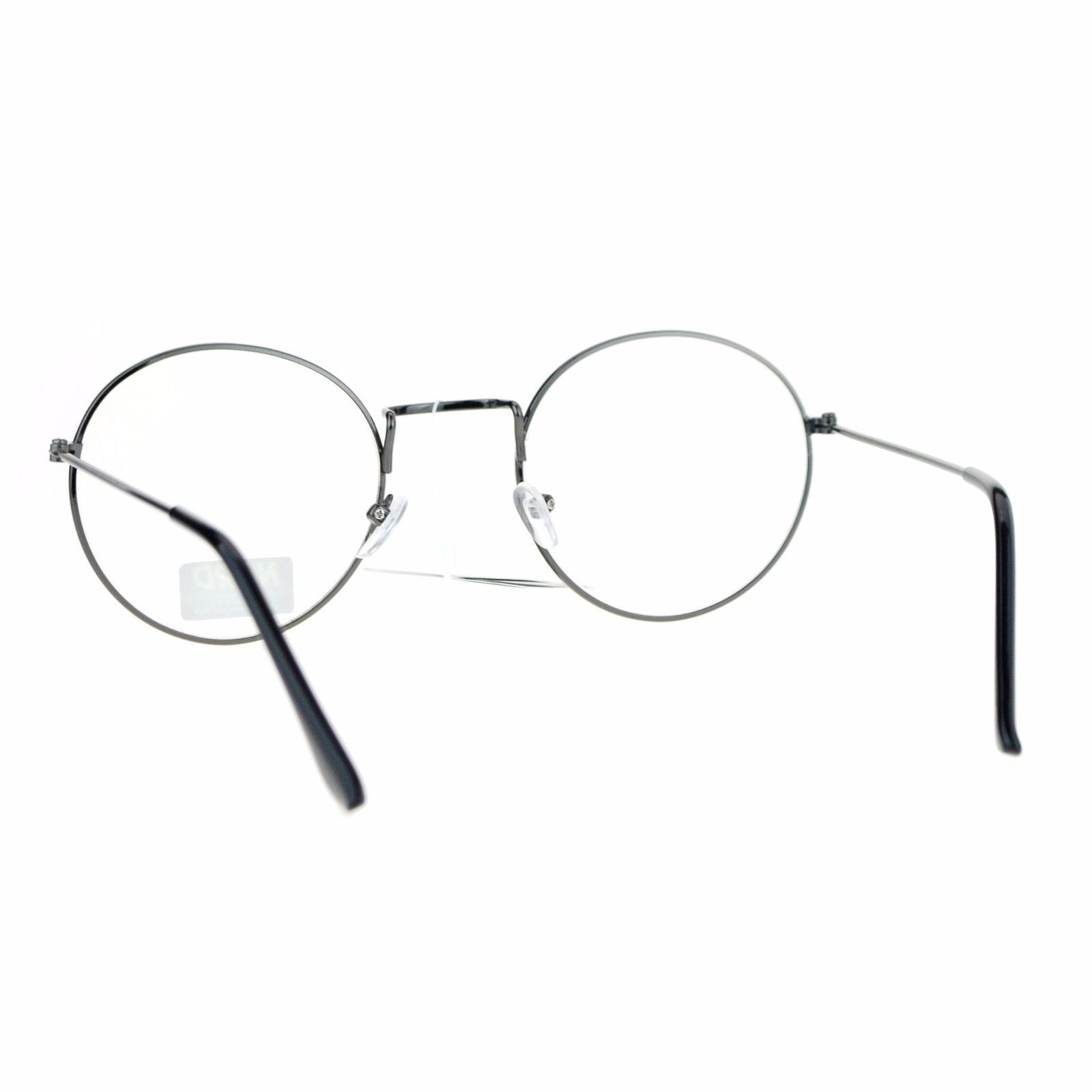 Vintage Design Clear Lens Glasses Round Metal Frame Fashion Eyeglasses