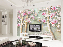 3D Schöne Pfirsichblüte 30 Fototapeten Wandbild Fototapete BildTapete Familie DE - $52.21+