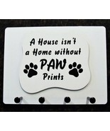 """Wall Mounted Keychain Holder Rack - """"A House Isn't a Home without Paw Pr... - $18.95"""
