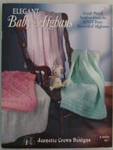 Elegant Baby Afghans Knit pattern leaflet For B... - $1.25