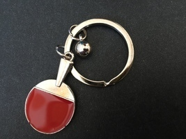 Table Tennis Keychain 1pc,Friendship Key Ring,Handmade Gift,cute keyfob