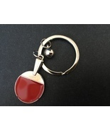 Table Tennis Keychain 1pc,Friendship Key Ring,Handmade Gift,cute keyfob - $3.50