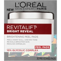 L'Oreal Paris Revitalift Bright Reveal Anti-Aging Peel Pads with Glycolic Acid E - $16.35