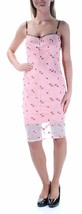 GUESS Pink Floral Embroidered Spaghetti Strap Dress Size S #H 449 Msrp:$128 - $37.61