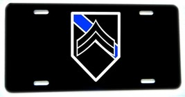 Thin Blue Line Police Sheriff Corporal Cpl. Rank License plate - $13.81