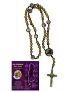 Saint Joseph Rosary natural wood Chaplet Prayer Rosario de San Jose 18 i... - $19.68