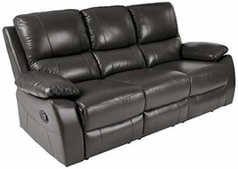 Homelegance Greeley Manual Reclining Sofa, 79? W, Gray Genuine Leather - $949.23