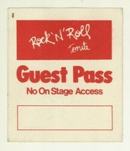 RARE Rock n Roll Tonite 1983 TV Show Red GUEST Cloth Backstage Pass! & and - $4.99