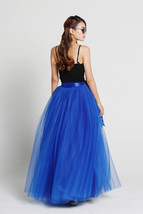 Women 4-layered Full Tulle Skirt High Waist Floor Length Tulle Skirt (US0-US30) image 11